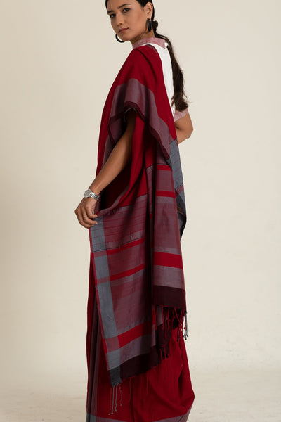 Urban Drape Cardinal Red Saree