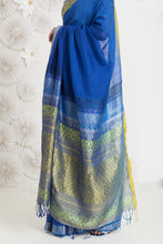 Load image into Gallery viewer, Urban Drape Heavenly Blue Saree