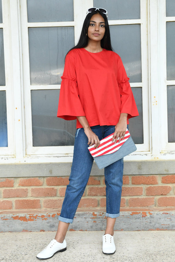 Retro Ruffle Sleeve Top V3