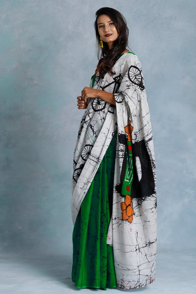 Urban Drape Go Green Saree