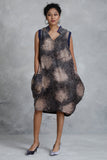 Flake Silk Batik  Balloon Dress