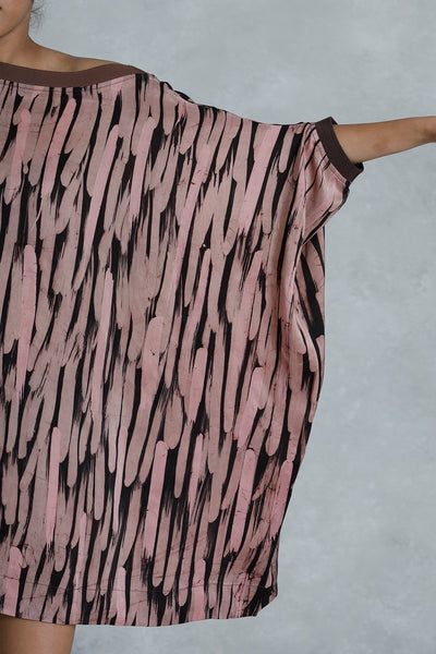 Drip and Splash Silk Batik Dress