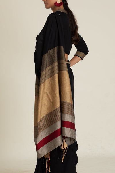 Urban Drape Black Night Saree - Shipping from 1st December