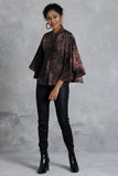 Splashing Silk Batik Poncho Top