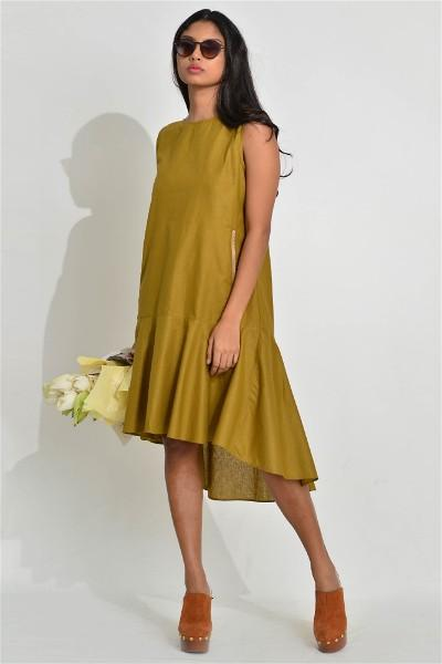 Aurelio Flown Green Dress