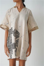 Load image into Gallery viewer, Mandarin Collar Dust Batik Dress