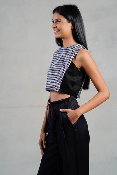 Check-mate Crop Top