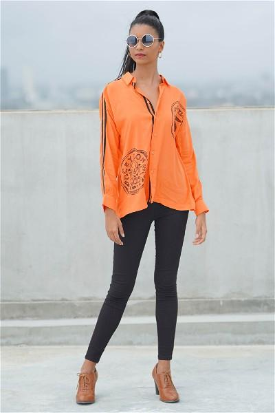 Ceylon Travel Shirt ( Orange )