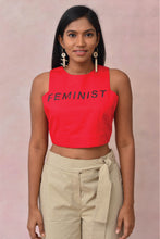 Load image into Gallery viewer, Feminist Crop Blouse