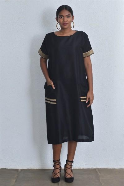 A Line Handloom Midi Dress V3