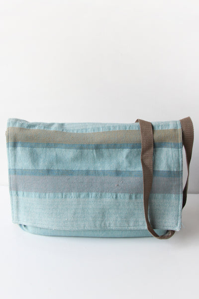Pastel Blue stripe shoulder bag