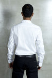 White Shirt With Placket Detail