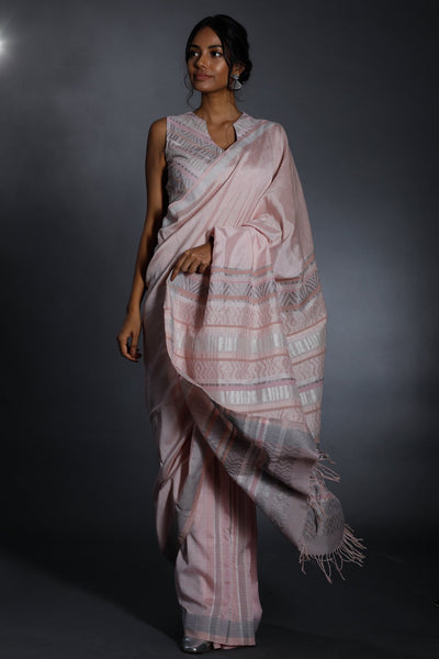 Urban Drape Lux Star Dust Pink Saree
