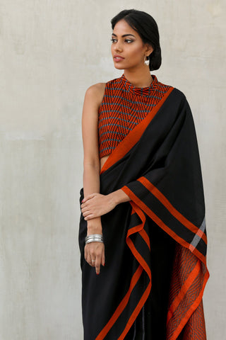 Urban Drape Waves of Flames Glam Handwoven Saree
