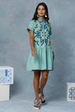 Mint Serin Dropped Waist Dress