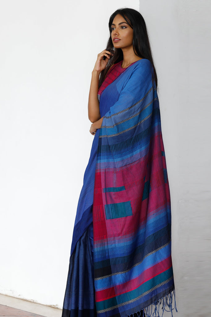 Urban Drape Mediterranean Night Saree