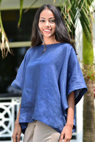 Purple Oversized Linen Top