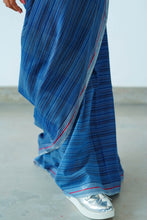 Load image into Gallery viewer, Urban Drape Stone Indigo Denim Saree