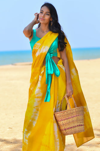 Urban Drape Ellyn Tie Dye Saree - Fashion Market.LK