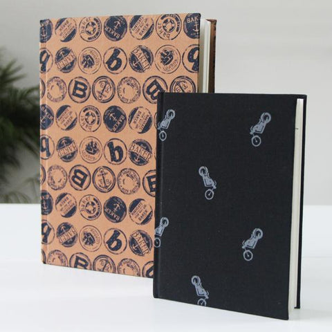 Floral print notebook set