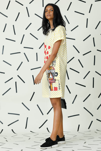 Wildest printed polka dot dream dress