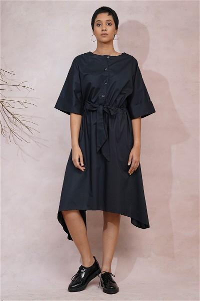 Enswathe Asymmetric Dress