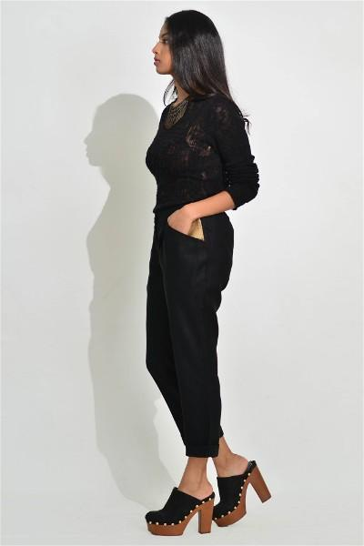 Tailored Black Cropped Pants