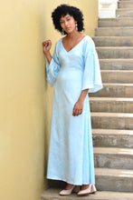 Load image into Gallery viewer, Cerulean Back Self Tie-Up Maxi Dress