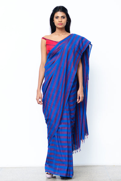 Urban Drape Navy Shades Saree
