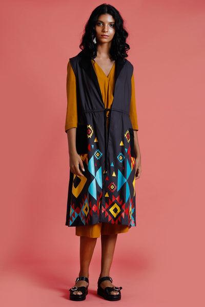 Nizhoni Printed long jacket