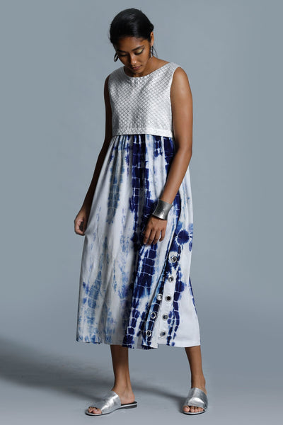 Artisan Tie Dye Midi Dress - Fashion Market.LK