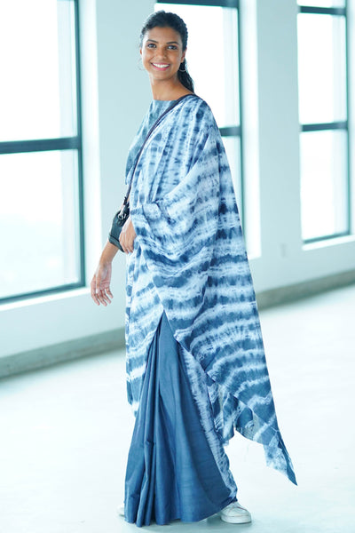 Urban Drape Bleached Denim Saree