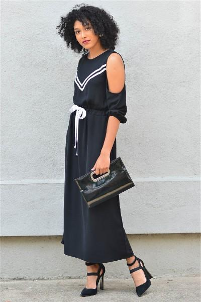 Know  Your Power  Tie-up Maxi Dress