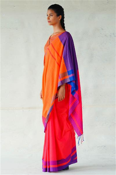 Urban Drape Orange Crush Saree