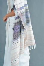 Load image into Gallery viewer, Urban Drape Blue Temple Saree