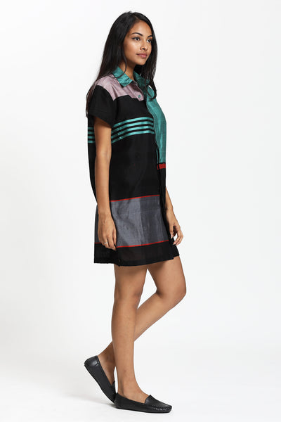 Designer Hand Woven Shirt Dress