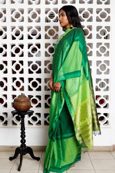 Urban Drape Fountain of Emeralds Saree