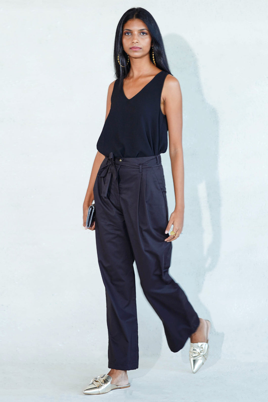 Mendes Ceylon Mara High-waist Black Pants