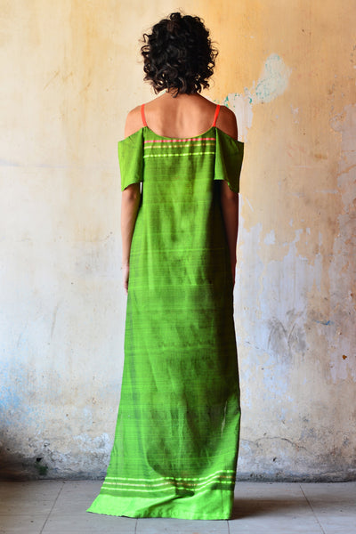 Neon Strap Green Maxi Dress- Immediate Shipping -Order Now