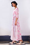 Cherry Blossom Wrap Maxi Dress