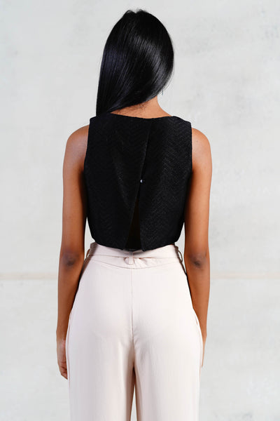 Black Beetle Crop Top