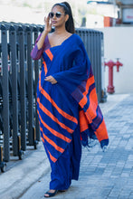 Load image into Gallery viewer, Urban Drape Neon Trend Saree