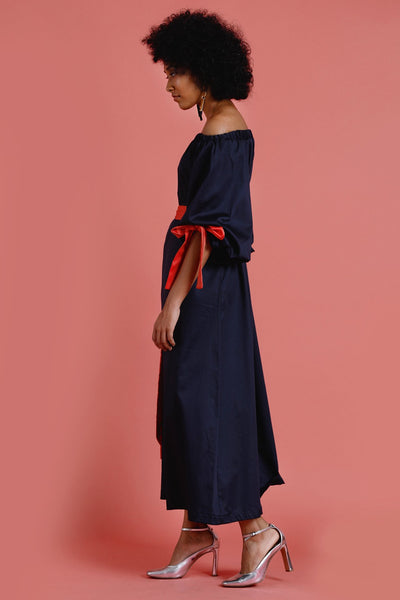 Dune?rose Luna off shoulder maxidress with embroidery