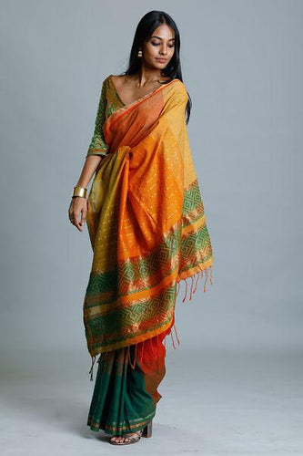 Urban Drape Sunset Mountains Saree