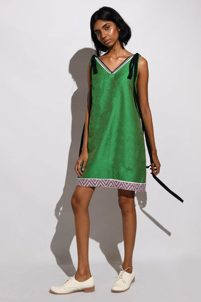 Handwoven Textured Shift Dress