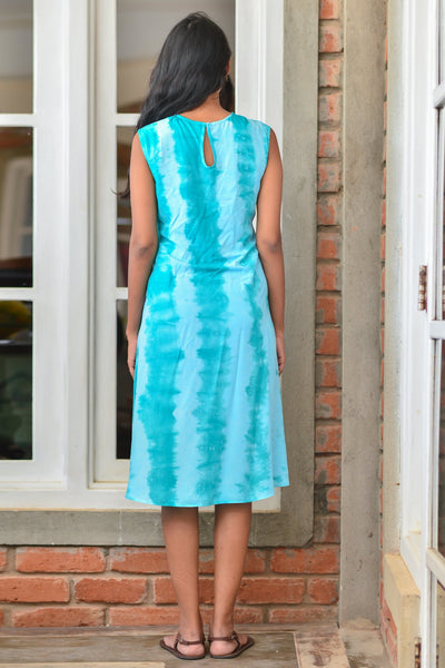 Front Tie Up Tie Dye Dress