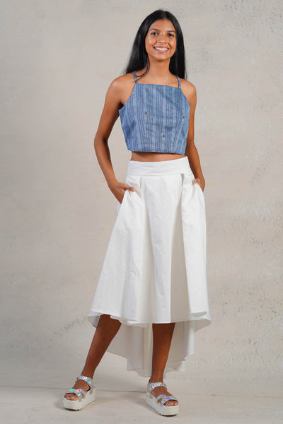 Rust Indigo Crop Top