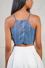 Load image into Gallery viewer, Rust Indigo Crop Top