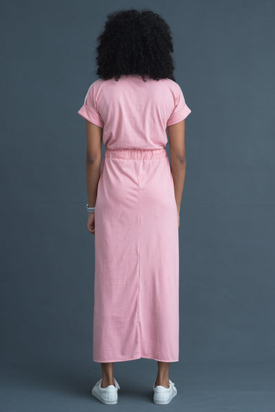 Long jersey Wrap dress - Fashion Market.LK