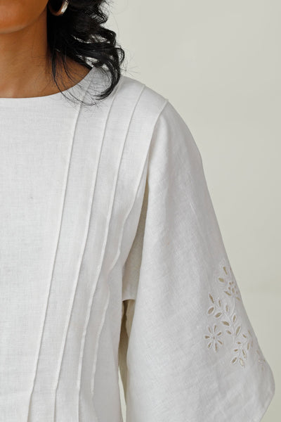 In Raptures  Embroidered Linen Dress